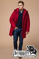 """Куртка удлиненная мужская зима Braggart """"Arctic"""" (р. 44-56) арт. 23675К красный"""