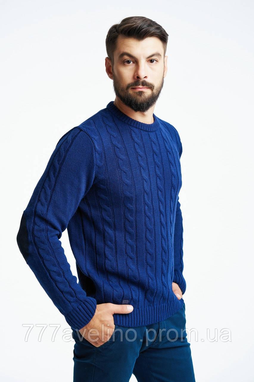 851aa01a4a4 Мужской свитер вязаный синий   купить в Харькове