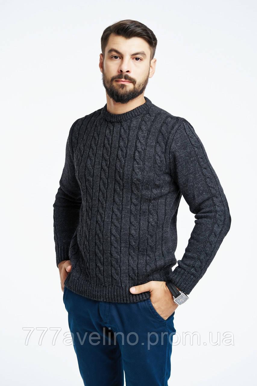 Мужской свитер вязаный стильный