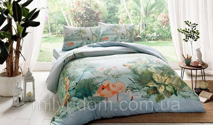 Набор постельного белья с - заряженными ионами TAC Ion Therapy Panaroma Бамбук (двуспальный евро)
