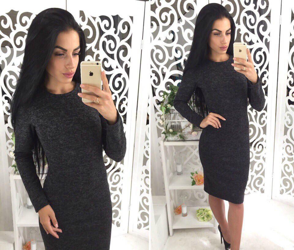 1057e3b5462 Женское ангоровое теплое платье
