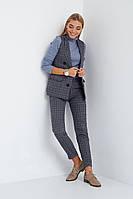 Стильный женский костюм брюки и жилетка