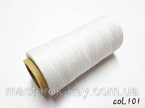 Шнур плоский прошивочный вощеный 0,8мм*100м К101 цвет белый