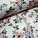 Ткань поплин розово-голубые цветы на белом (ТУРЦИЯ шир. 2,4 м) №32-72, фото 2
