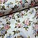 Ткань поплин розово-голубые цветы на белом (ТУРЦИЯ шир. 2,4 м) №32-72, фото 4