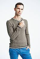 Мужской свитер вязаный стильный 60 % шерсти