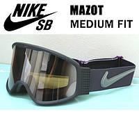 Горнолыжная маска Nike Mazot Matte Black Mulberry Silver Ion Lens