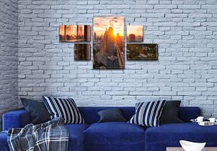 Модульная  картина Промышленный город  на Холсте, 80x140 см, (25x45-2/25х25-2/80x45), фото 3