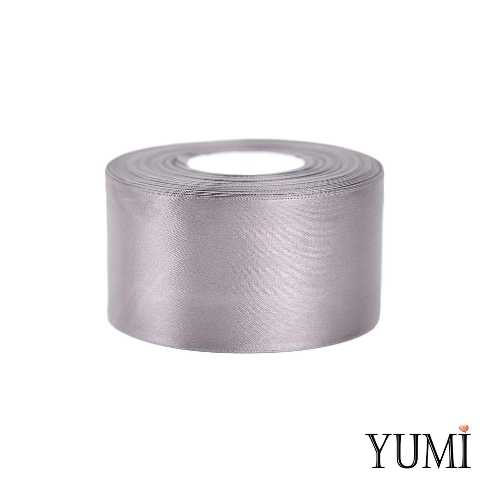Лента (тесьма) атласная (сатин) 50 мм СЕРАЯ 8138