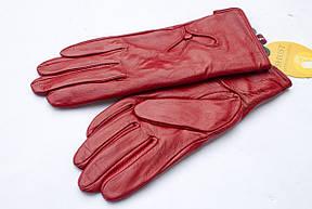 Женские кожаные перчатки  Красные Маленькие, фото 2