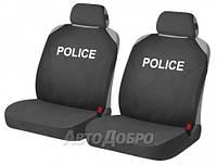 Чехлы майки на сиденье HR POLICE черный