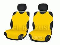 Чехлы майки на передние сиденье KEGEL желтый