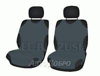 Чехлы майки на передние сиденье KEGEL темно серый