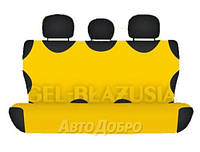 Чехлы майки на задние сиденье KEGEL желтый