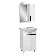 Комплект мебели для ванной комнаты Альвеус Т-50-02Л-З-50-01 с зеркалом ПИК