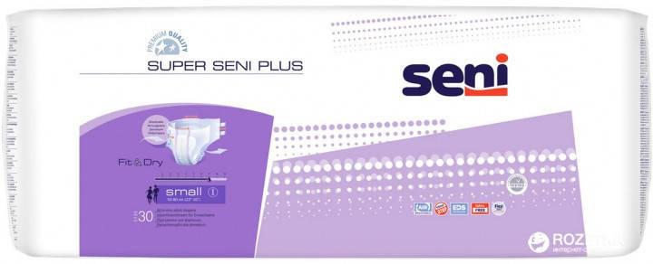 Подгузники для взрослых Seni Super Plus Small 30 шт (1, 7 кап.), фото 2