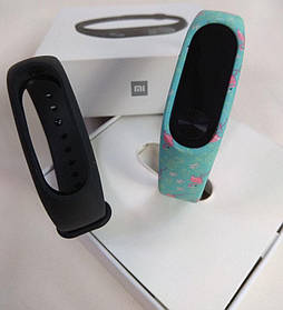 Фитнес-браслет Xiaomi Mi Band 2 (Black) ОРИГИНАЛ + ремешок (Flamingo) Гарантия 3 месяца