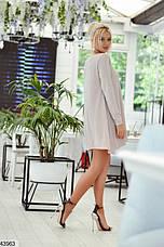 Платье туника нарядное женское с люрексом размеры:42-46, фото 2