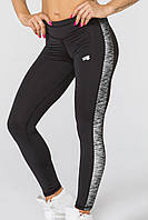 5c070fdb73d6d Спортивные женские легинсы Radical Strokes (original), леггинсы для бега,  лосины для йоги, фитнеса, спортзала Женский, L, черно-серый