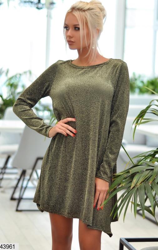 Платье туника нарядное женское с люрексом размеры:42-46
