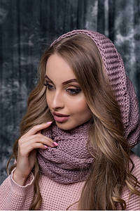 Жіночий ліловий в'язаний снуд/хомут/шарф Alegro