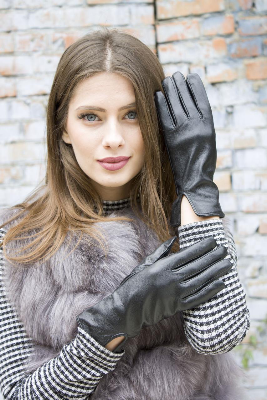 Женские кожаные перчатки 410