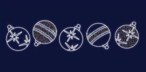 """Светодиодная конструкция  Перетяжка """"Ёлочная игрушка"""" 5,5,1,3"""