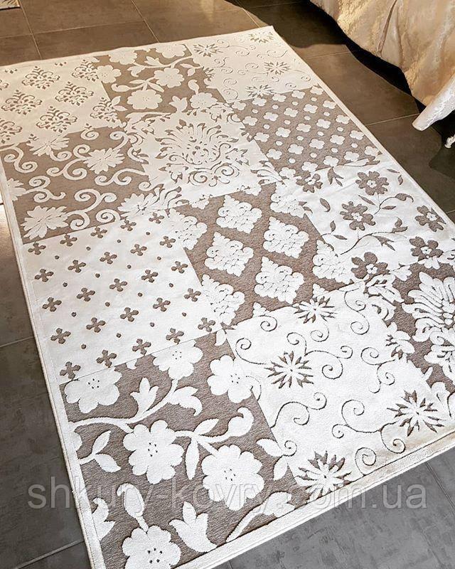 Тонкие ковры на кухню, светлый легкий ковер на нескользящей основе