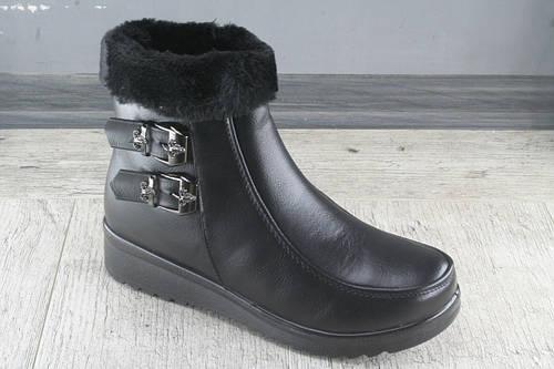 Ботинки, полуботинки женские зимние из эко кожи LR.Brother , обувь теплая, Размеры 38-43