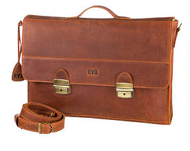 Кожаный  мужской портфель Level Бриф readhead рыжий
