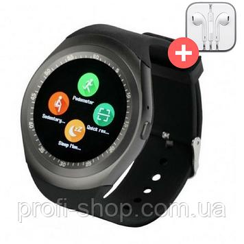 Умные часы Smart Watch Y1 с SIM картой. Черный. Black