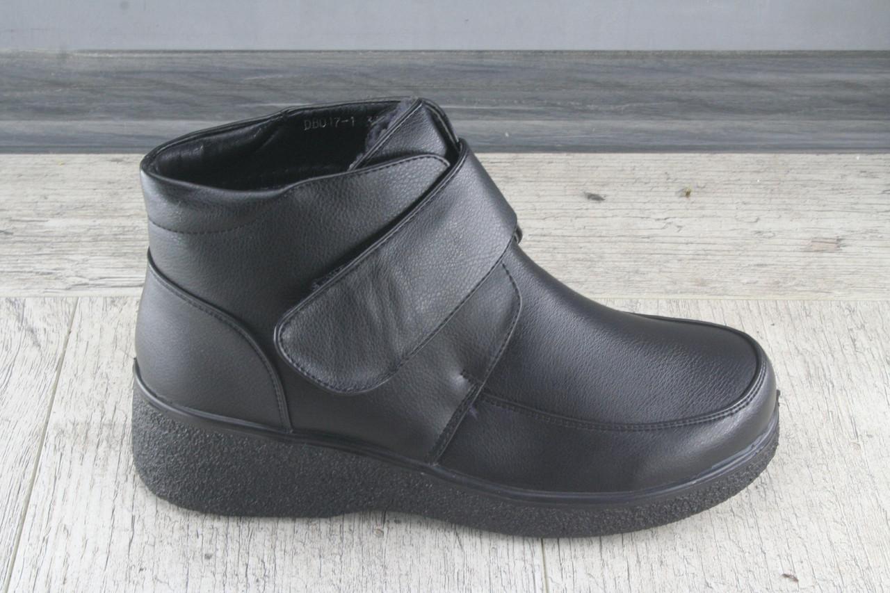 Ботинки, полуботинки женские зимние из эко кожи LR.Brother , обувь теплая, Размеры 37-42