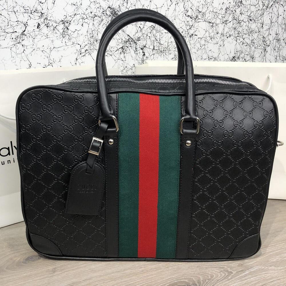 Сумка Bussines Gucci Bag GG Supreme Web 15 Black