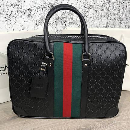 Сумка Bussines Bag Gucci GG Supreme Web 15 Black, фото 2