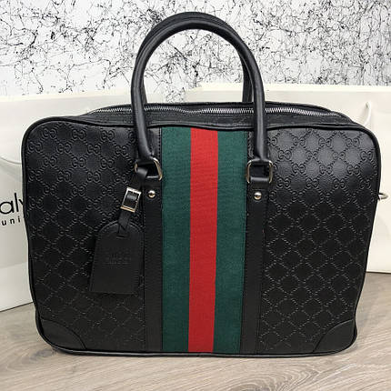 Сумка Bussines Gucci Bag GG Supreme Web 15 Black, фото 2