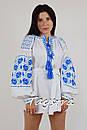Белая туника вышиванка лен, этно стиль бохо шик, вишита туніка вишиванка, фото 2