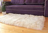 Ковер из овечьей кожы, белый цвет, размер 160*105см