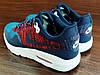 Синие с красным мужские кроссовки Nike Air Max 1 Flyknit. РАСПРОДАЖА, фото 7