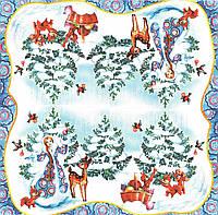 Салфетка декупажная Снегурочка и зверята 4309