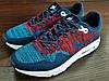 Синие с красным мужские кроссовки Nike Air Max 1 Flyknit. РАСПРОДАЖА, фото 8