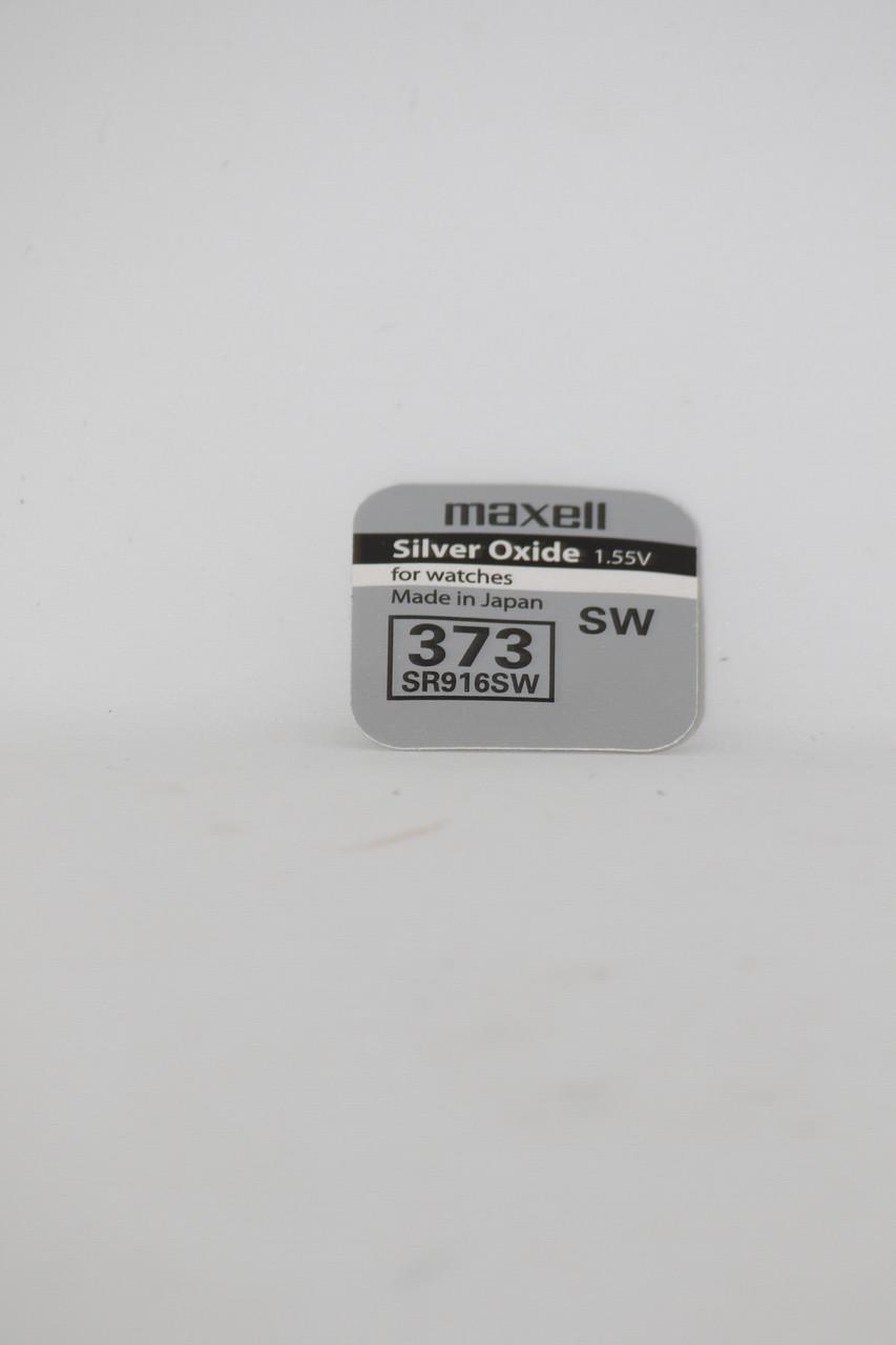 Батарейка для часов. Maxell SR916SW (373) 1.55V 26.5mAh 9,5x1.65mm Серебрянно-цинковая
