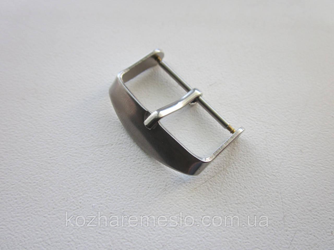 Пряжка - застёжка для часов 24 мм никель