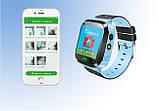 Детские смарт часы с GSM трекером Q527 с камерой и фонарём, фото 6