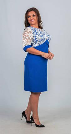 """Сногсшибательное женское платье ткань """"Костюмная"""" 48, 50, 52, 54, 56 размер батал, фото 2"""