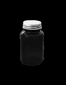 Банка для реактивов с винтовой алюминиевой крышкой (плевательница) 100 мл, стекло, фото 2