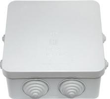 Коробка монтажна КМ-234 IP55 (відкр. проводки з герм.вводами 126*126*55,3мм) BYLECTRICA