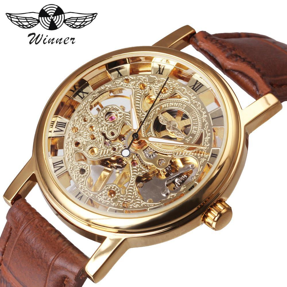 Мужские часы Winner W103 Gold с автоподзаводом Оригинал + Гарантия!