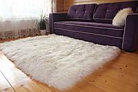 Ковры из натуральной кожы овец, прямоугольник, белый, размер 210*150см