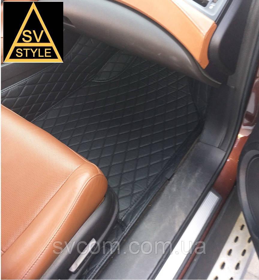 Коврики на BMW X5 Кожаные - 3D (Е70 / 2006-2013) Чёрные