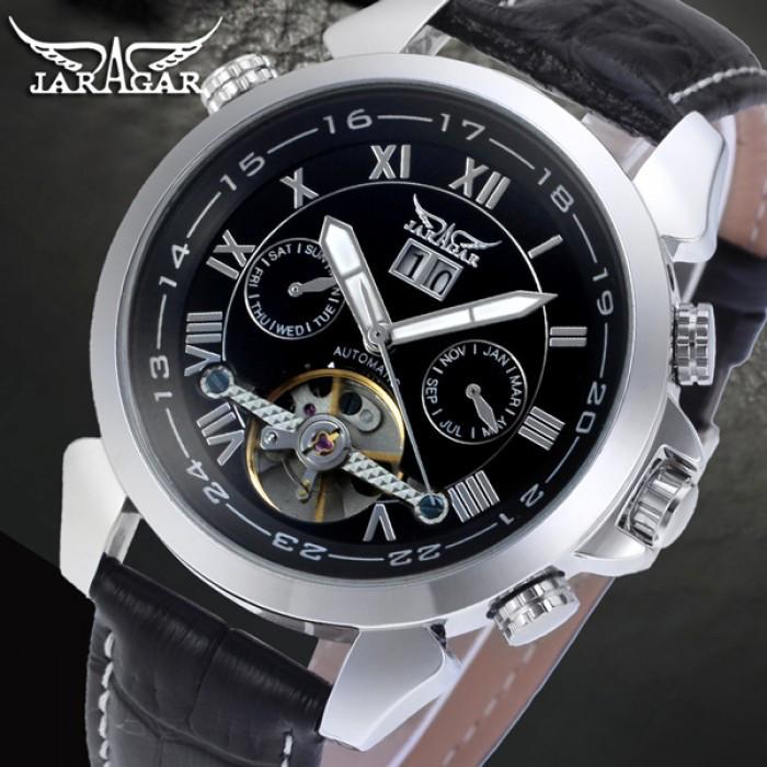 Мужские часы Jaragar Turboulion Silver Оригинал + Гарантия!